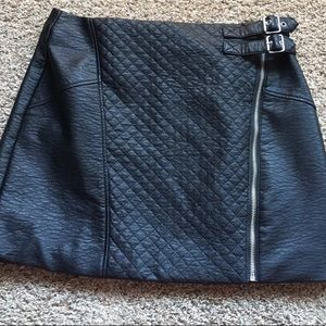H & M Faux Leather skirt